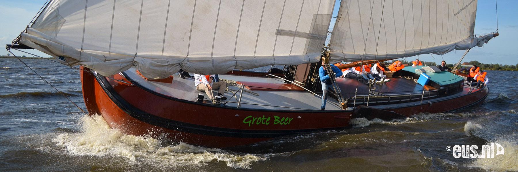Skutsje zeilen op de Friese meren